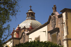 Exterior of Mexican church Royalty Free Stock Photo
