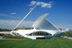 Exterior of the Milwaukee Art Museum on Lake Michigan, Milwaukee, WI Royalty Free Stock Photo