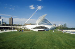 Exterior of the Milwaukee Art Museum on Lake Michigan, Milwaukee, WI Royalty Free Stock Photography