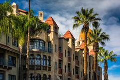 Exterior of the Mission Inn stock image