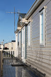 Exterior of mobile home Stock Images