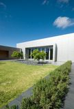 Exterior of Modern Architecture. Front Path of Modern Building Stock Photos