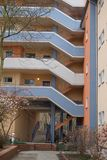 Exterior of modern block of apartments. Exterior of tall modern block of apartments in city Stock Images