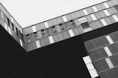 Exterior of modern building in black and white Royalty Free Stock Photography