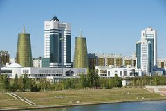Exterior of the modern buildings in Astana, Kazakhstan. Royalty Free Stock Photography