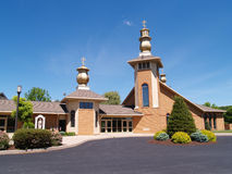 Exterior of a modern church Royalty Free Stock Photography