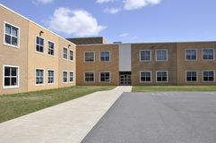 Exterior of a modern elementary school royalty free stock photos