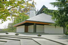 Exterior of modern european church Stock Photography