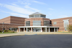 Exterior of a modern high school building Stock Photo