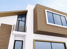 Exterior of modern house royalty free stock images