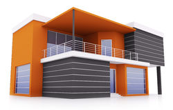 Exterior of modern house Royalty Free Stock Image