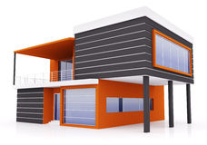 Exterior of modern house Royalty Free Stock Photo