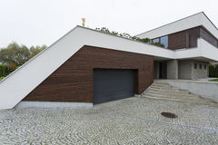 Exterior of a modern house Royalty Free Stock Photo