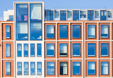 Exterior of modern office building in red bricks Royalty Free Stock Photography