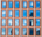 Exterior of modern office building in red bricks Royalty Free Stock Photos