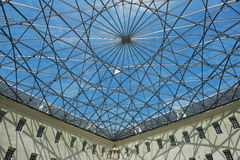Exterior of the modern roof at the courtyard of Maritime Museum in Amsterdam, Netherlands. Stock Images