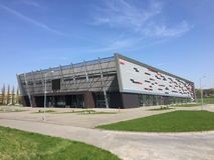 Modern sport arena in Koszalin Poland Royalty Free Stock Photo