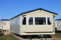 Exterior of modern static caravan Stock Photos