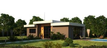 Exterior moderno da casa Foto de Stock