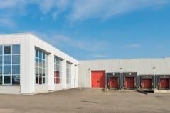 Exterior moderno do armazém Foto de Stock Royalty Free