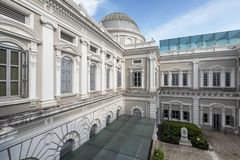Exterior of National Museum of Singapore. Established in 1849 by the then Singapore Institution Committee. It was called the Raffles Library and Museum and Royalty Free Stock Photography