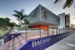 Exterior of National Young Arts Foundation Building / Bacardi He. MIAMI - JULY 15, 2012: Exterior of the Bacardi Building, the former headquarters of Bacardi USA Royalty Free Stock Photos
