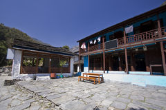 The exterior of a nepali lodge. Nepal stock photography
