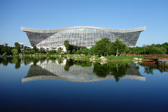 Exterior of New Century Global Center, Chengdu, Sichuan, China Stock Image