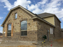 Exterior of new house construction Stock Photo