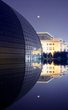 Exterior night view of National Opera Theater Royalty Free Stock Photo