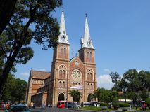 The exterior of the notre dame cathedral in ho chi minh city Vietnam Stock Photography