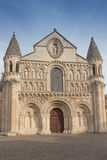 Exterior of Notre Dame la Grande church in Poitiers, detail of f Stock Images