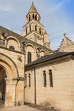 Exterior of Notre Dame la Grande church in Poitiers Stock Images
