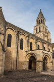 Exterior of Notre Dame la Grande church in Poitiers Royalty Free Stock Photos