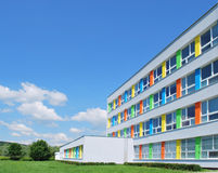 Exterior Of A Modern School Stock Photo