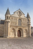 Exterior Of Notre Dame La Grande Church In Poitiers Royalty Free Stock Images