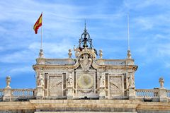 Free Exterior Of Royal Palace Of Madrid, Spain Stock Image - 132361921