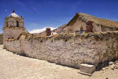 Free Exterior Of The Beautiful Parinacota Village Church, Putre, Chile. Royalty Free Stock Photo - 48823425