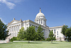 Exterior of Oklahoma state capitol Stock Photos