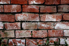 Exterior of old brick wall. Exterior of damaged old brick wall building Stock Images