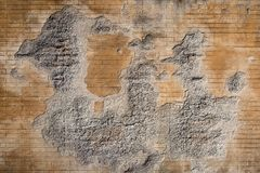 Weathered plaster and brick wall textured background 2 Royalty Free Stock Photos