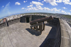 Exterior of the old cannon in Fort Adelaide, Port Louis, Mauritius. Royalty Free Stock Image