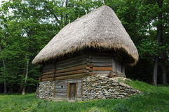 Exterior of old ethno house. In remote part of Balkan, Romania, Europe Royalty Free Stock Image