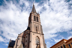 Exterior of old gothic christian church in Prague Royalty Free Stock Image