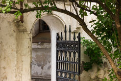 Old house with iron gate Stock Image