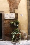 Exterior of an old house in Lucca Stock Photo