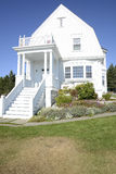 Exterior of an old house on the Maine coast royalty free stock image