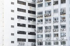Old industrial building in Hong Kong city. Exterior of old industrial building in Hong Kong city royalty free stock photo