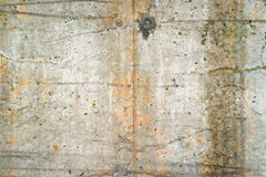 Exterior old poured concrete wall Royalty Free Stock Photo