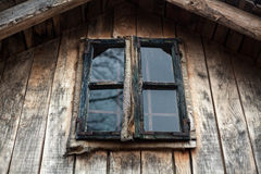 Exterior of an Old Wooden Window Royalty Free Stock Photo